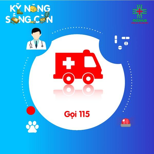 Nếu vết thương sâu, gây chảy máu nhiều không thể cầm cần gọi cấp cứu 115. Trong thời gian chờ đợi xe cấp cứu, có thể thực hiện bước 1 và 2.